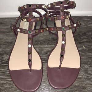Valentino Rockstud and Stone Sandal Size 36